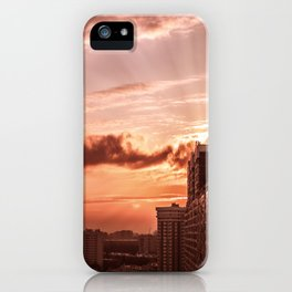 Dawn in the city V2 iPhone Case