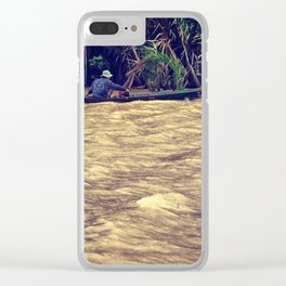 Mekong waves Clear iPhone Case