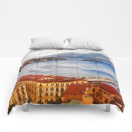 Italy. The Bay of Napoli Comforters