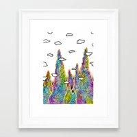 spires Framed Art Prints featuring Astral Spires by Taylor Beck