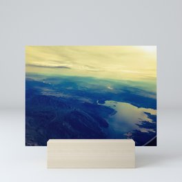 Land mass. Fly over states. Mini Art Print