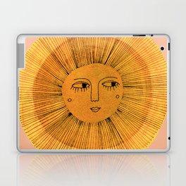 Sun Drawing Gold and Pink Laptop & iPad Skin