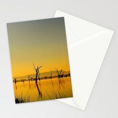 Scupltures in the Lake Stationery Cards