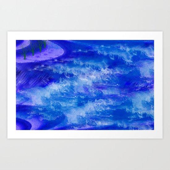 LETS CATCH A WAVE Art Print