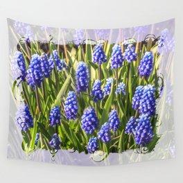 Grape hyacinths muscari Wall Tapestry