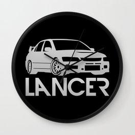 Mitsubishi Lancer Evo - silver - Wall Clock