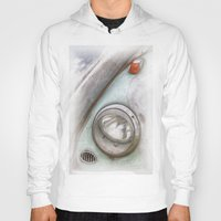 vw Hoodies featuring VW Beetle by David Turner