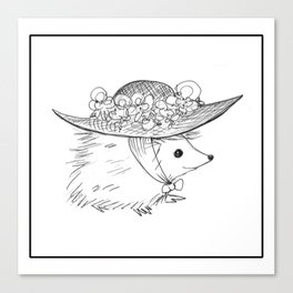 Hedgehog in a Hat Canvas Print