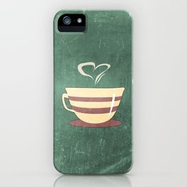 Coffee is love illustration iPhone Case