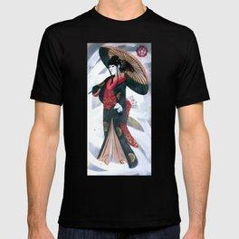 Japanese Woman Street Art T-shirt