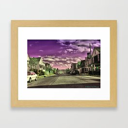 Into the Purple Horizone Framed Art Print