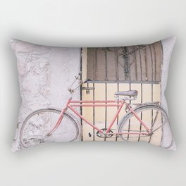 Red Bike/Yellow Door Rectangular Pillow