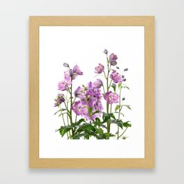 Purple delphinium flowers Framed Art Print