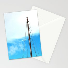 sailing pole and blue sky Stationery Cards
