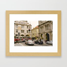 Prague Tram Station II. Framed Art Print