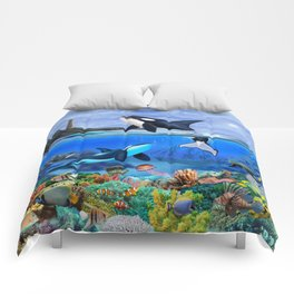 THE ORCA FAMILY Comforters