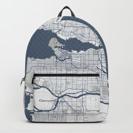 Vancouver City Map of Canada - Coastal Backpack