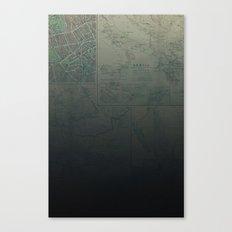 Midnight Map Canvas Print
