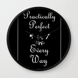 Mary Poppins Practically Perfect Wall Clock