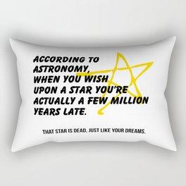 According to Astronomy Rectangular Pillow
