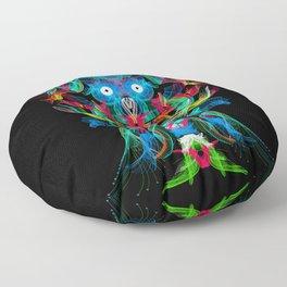 Neon Owl Avatar Floor Pillow