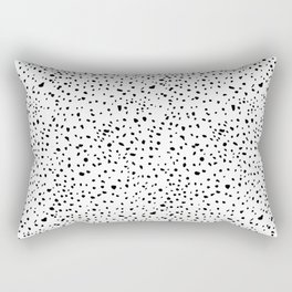 spotty dotty in black and white Rectangular Pillow