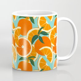 Orange Harvest - Blue Coffee Mug