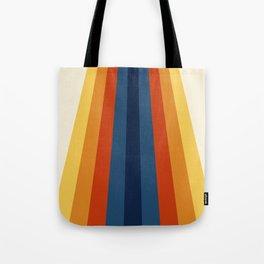 Bright 70's Retro Stripes Tote Bag