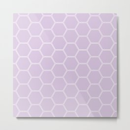 Honeycomb Light Purple #288 Metal Print