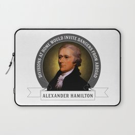 Alexander Hamilton on Foreign Policy and Politics Laptop Sleeve