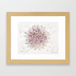 Big Succulent Watercolor Framed Art Print