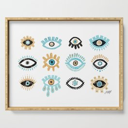 Evil Eye Illustration Serving Tray