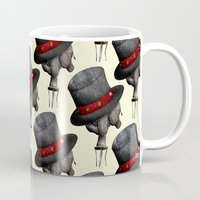 surrealism Mugs featuring Circus ∫ Animal Surrealism by Alejo Malia