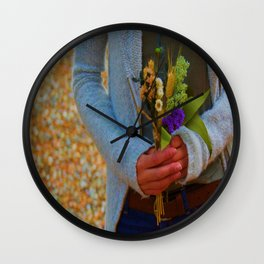 A small Bouquet Wall Clock