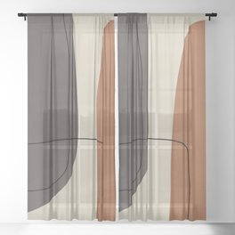 Modern Abstract Shapes #2 Sheer Curtain