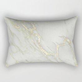 Marble Love Gold Metallic Rectangular Pillow