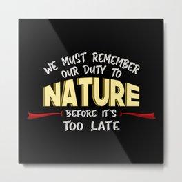 Climate Change Planet Earth CO2 Future Gift Idea Metal Print
