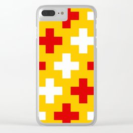 Red Yellow White Cross Clear iPhone Case
