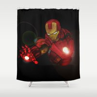 ironman Shower Curtains featuring Ironman MK1  by Jamesy