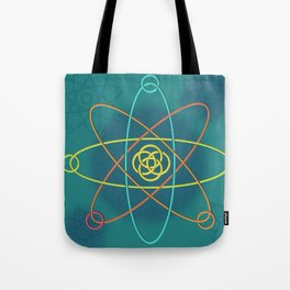Line Atomic Structure Tote Bag