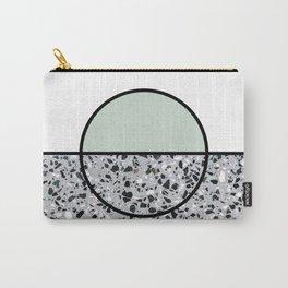 Minimal Modern Terrazzo Pattern Design Mint Green Carry-All Pouch