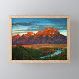Grand Tetons - Jackson Hole, Wyoming in Autumn Framed Mini Art Print