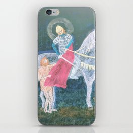 St. Martin and the Beggar iPhone Skin