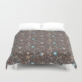 Seamless pattern design with hand drawn flowers and floral elements Duvet Cover