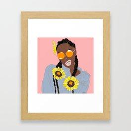 Believe in Yo Juice - Digital Black Goddess Vector Drawing Framed Art Print