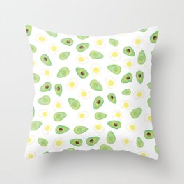 Avocados & Eggs Throw Pillow