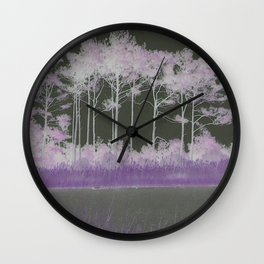 Tranquility in Shades of Lavender Wall Clock