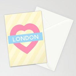 London Pastel Heart Stationery Cards