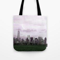 Manhattan Skyline from Liberty Park Tote Bag