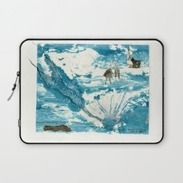 mermaid of Zennor collagraph 1 Laptop Sleeve